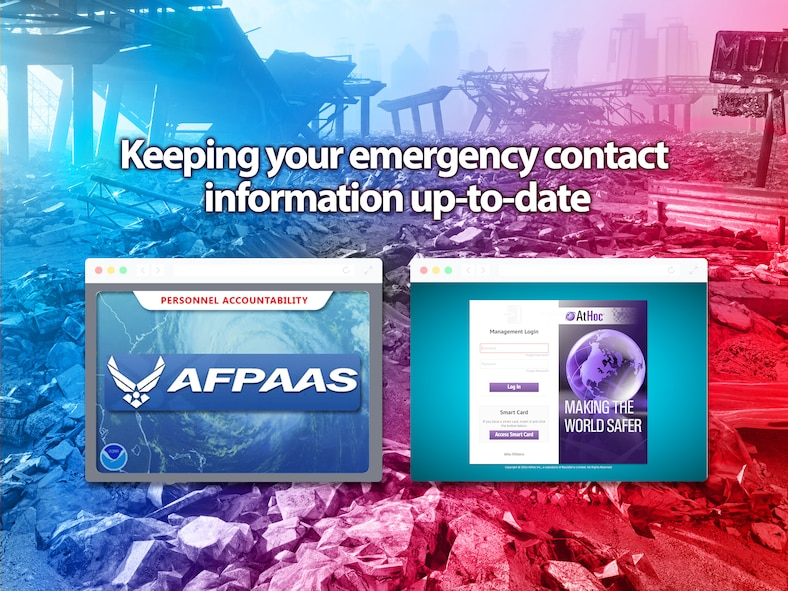 Keeping your emergency contact information up to date.