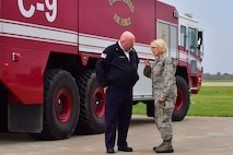 Maj. Gen. Johnson visits base