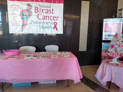 The 11th Medical Group will hold a Breast Cancer Awareness Month event to help increase awareness on Oct. 26, 2017.