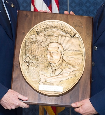 The Sijan award, first presented in 1981, was named in honor of the first Air Force Academy graduate to receive the Congressional Medal of Honor. Each year it is given to a senior and junior officer, and a senior and junior enlisted member who demonstrated outstanding leadership abilities though out the year.