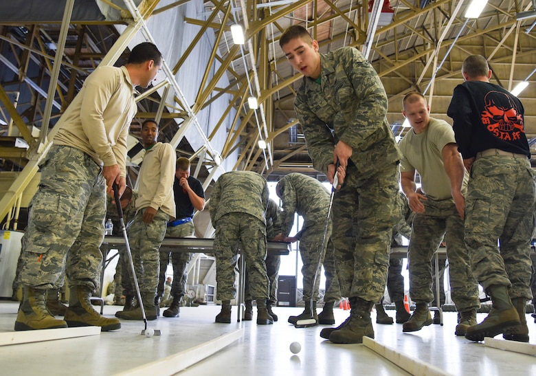 Airmen compete in MXG Fall Olympics