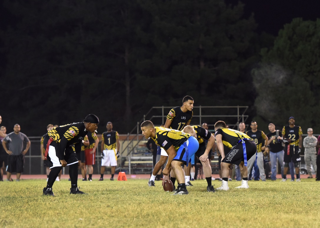 The 39th LRS team finished the intramural flag football season undefeated.