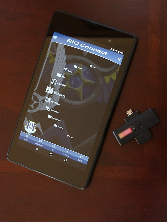 The latest release of the RIO Connect IMA Mobile Wingman app allows Air Force Reservists to use a mobile CAC reader to access secure sites from a mobile device.