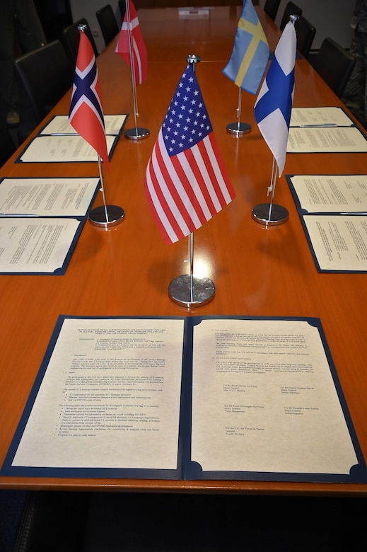 Nordic Air Chiefs sign letter, develop Arctic Challenge