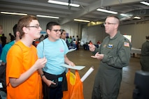 Wing members reach out to more than 1,000 students at career fair