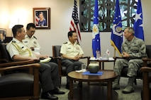 COMPACAF meets with JGSDF Chief of Staff