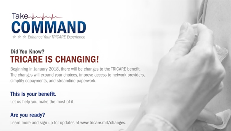 Changes to the TRICARE benefit begin Jan. 1, 2018. (U.S. Air Force graphic)