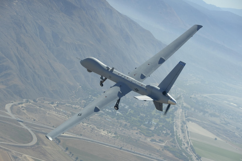 MQ-9 Reaper drone flies over California.