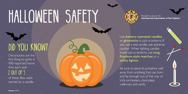 Joint Base San Antonio Fire Emergency Services advises parents to follow some safety tips for Halloween.
