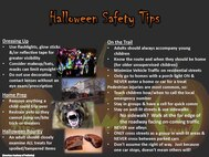 Halloween Information and Safety