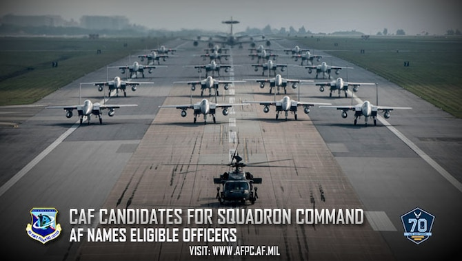 CAF candidates for squadron command; AF names eligible officers