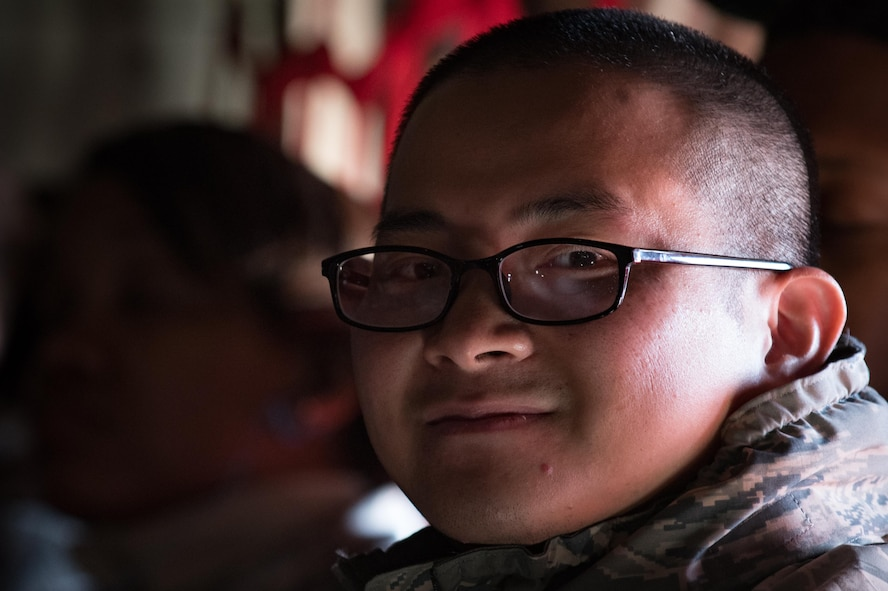 U.S. Air Force Capt. Nam Nguyen, 633rd Medical Operations Squadron internal medicine physician, deploys from Joint Base Langley-Eustis, Va., Oct. 18, 2017.