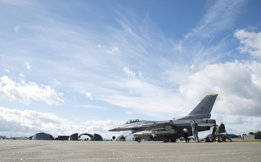 U.S. Air Force F-16 Fighting Falcons, U.S. Navy EA-18G Growlers and Japan Ground Self-Defense Force banded together to practice an array of offensive firepower during exercise Iron Spear, Oct. 11 through 13.