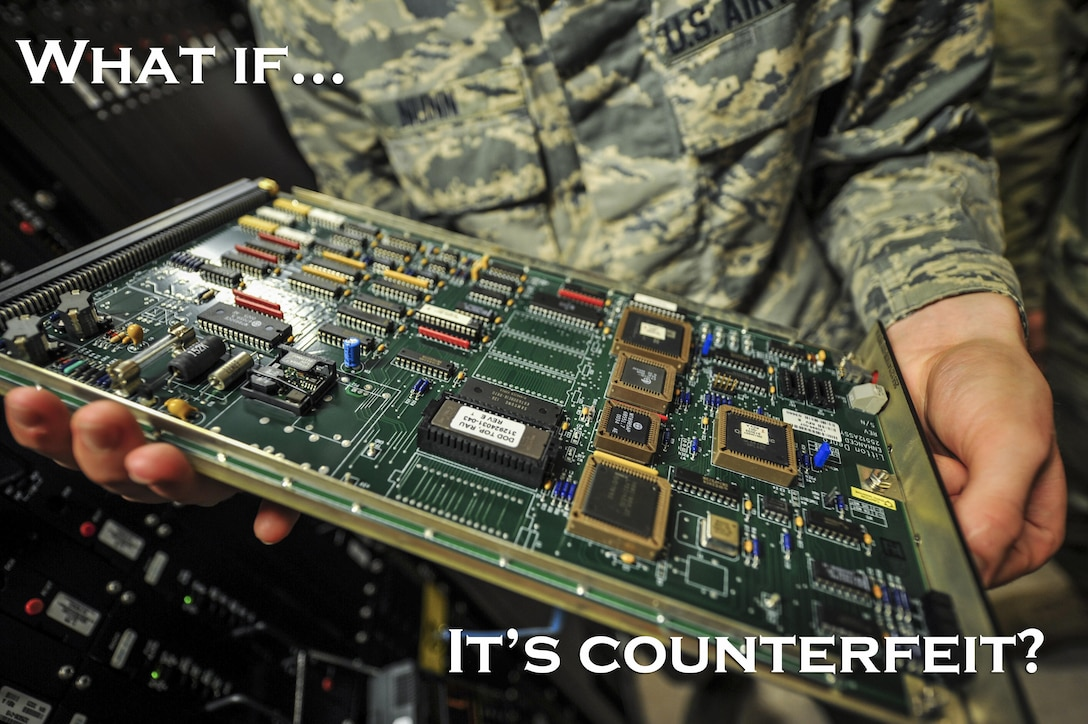 Potentially counterfeit circuit board.