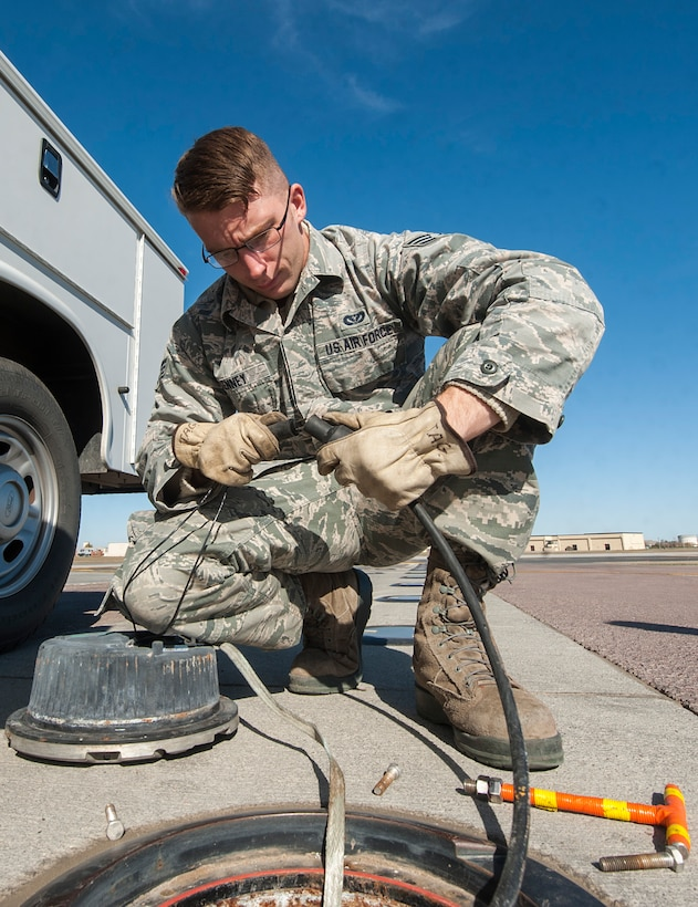 The 5th Civil Engineer Squadron electrical systems Airmen are responsible for maintaining all electrical systems on base, including airfield lighting systems, lighting protection systems and fire alarm systems.