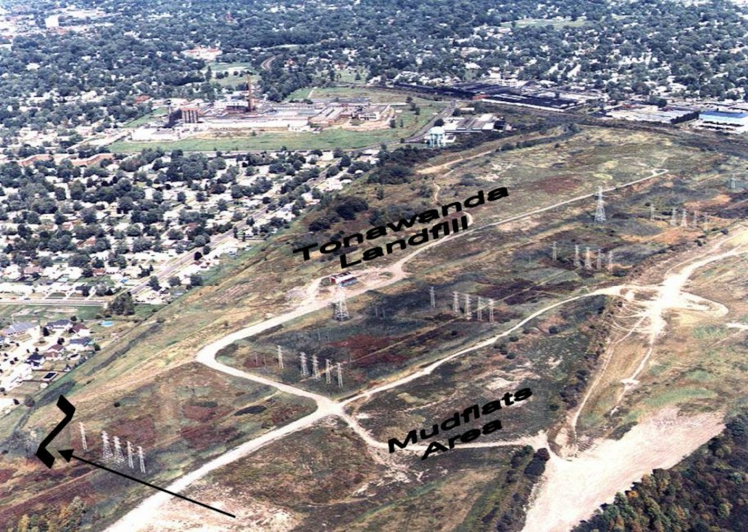 Overview of the Tonawanda Landfill site, Tonawanda, NY.