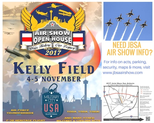2017 JBSA Air Show and Open House website infographic