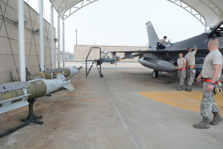 Airmen from the 115th Fighter Wing, Wisconsin Air National Guard, are deployed to Kunsan for a 4-month rotation as part of a Theater Security Package, which helps to maintain a deterrent against threats to regional security and stability.