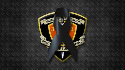 Third Marine Division graphic for the death of a Hawaii-based Marine.