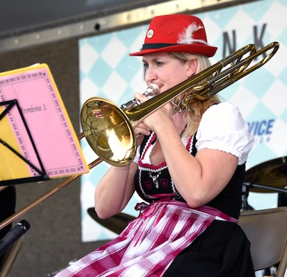 Authentic German oompah music was provided for the listening and dancing pleasure of the attendees at the annual Joint Base San Antonio-Fort Sam Houston Oktoberfest Oct. 21.