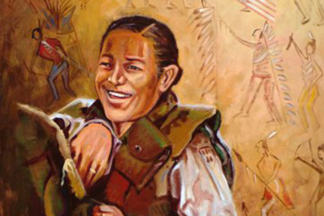 Army Spc. Lori Piestewa is represented in a painting.