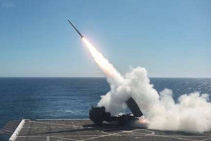 Anchorage Conducts HIMARS Shoot During DB17