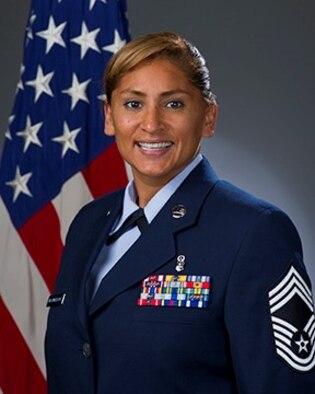 Official photo, Chief Master Sgt. Margie P. Quicanopalacios