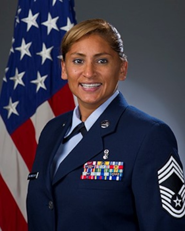 Official photo, Chief Master Sgt. Margie P. Quicanopalacios