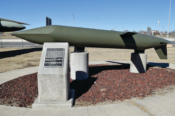 General Dynamics AGM-129 Advance Cruise Missile on display with wings out as if in-flight in the Charles B. Hall Memorial Air Park on Feb. 16, 2017, Tinker Air Force Base, Oklahoma. Tinker AFB maintains not only aircraft, but also cruise missiles and their components.