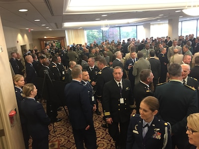 Chiefs of defense gather at Fort Belvoir, Va., for the Counter Violent Extremism Conference hosted by Marine Corps Gen. Joe Dunford.