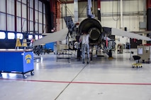 114th Aircraft Maintenance Squadron Airmen inspect a F-16 during a Phase Inspection Oct. 5, 2017, Joe Foss Field, S.D.