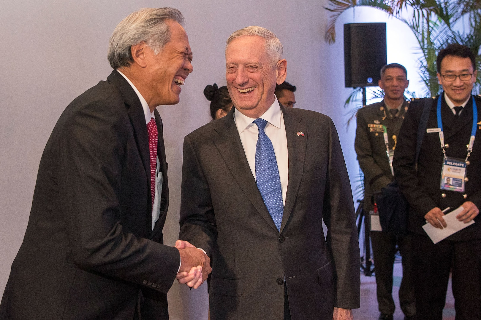 Mattis meets with Singapore's Defense Minister