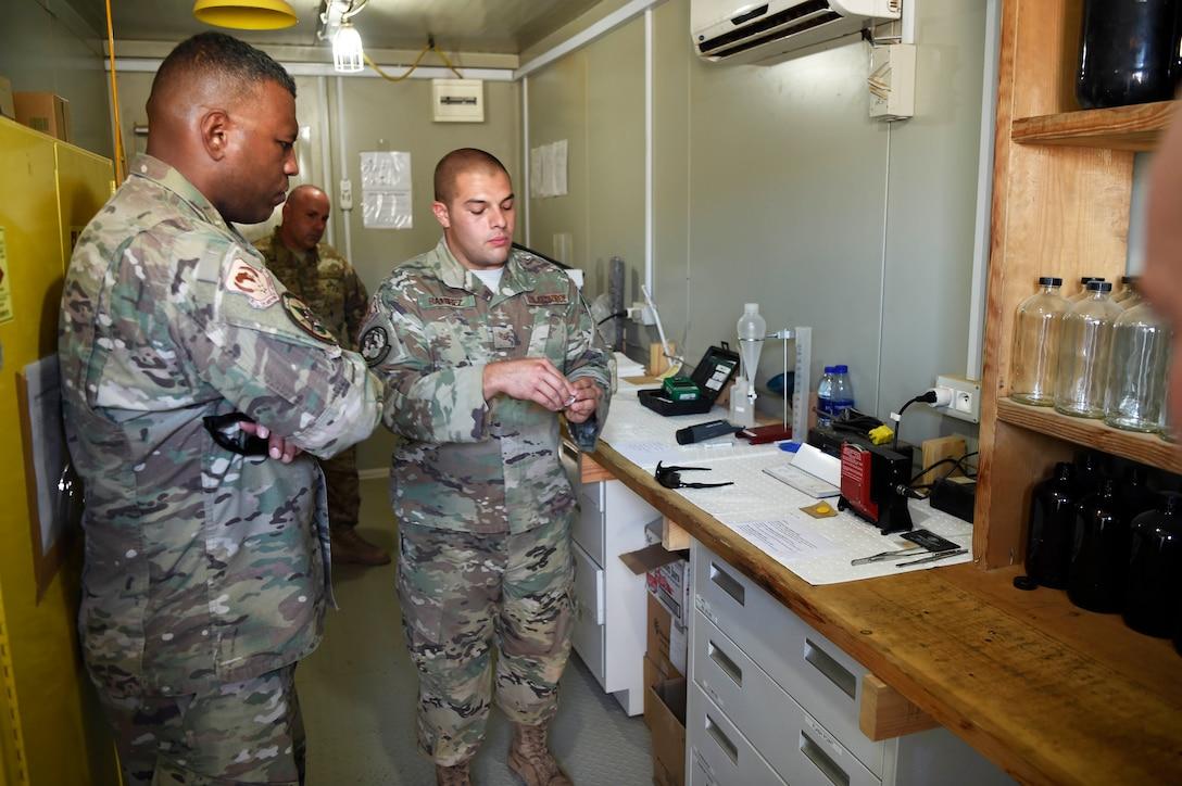 3rd AF commander is briefed on fuels testing procedures