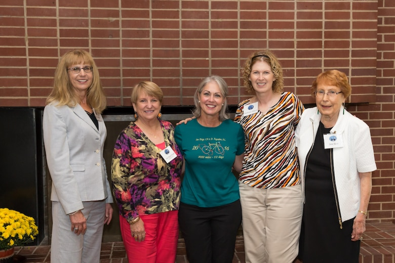 Members of the AEDC Woman's Club who ride bicycles enjoyed listening to Julie Willmering, the Oct. 5 meeting guest speaker. She talked about her 3,000 mile ride with the group at the Arnold Lakeside Center. Pictured left to right is Joan Hartvigsen, Anne Marie Pender, speaker Julie Willmering, Stephanie Mittuch and Jane Ricci. (Courtesy photo)