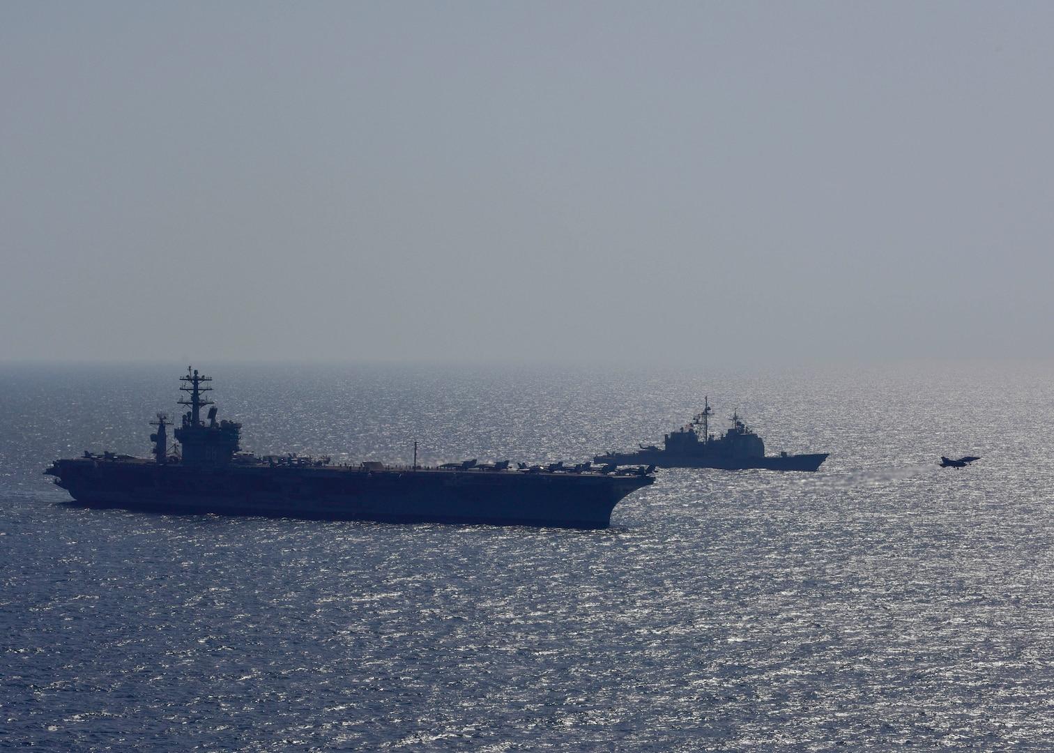Nimitz Carrier Strike Group Enters 7th Fleet