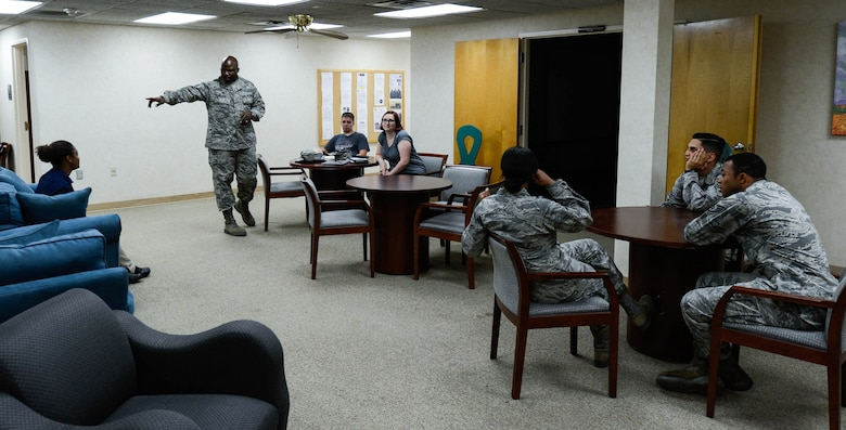 Theater group shares prevention, response message across Air Force