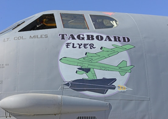 Nose art pays tribute to B-52's top secret past