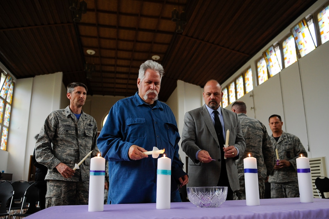 Ramstein lights a candle for Interpersonal Violence Awareness Candlelight Vigil