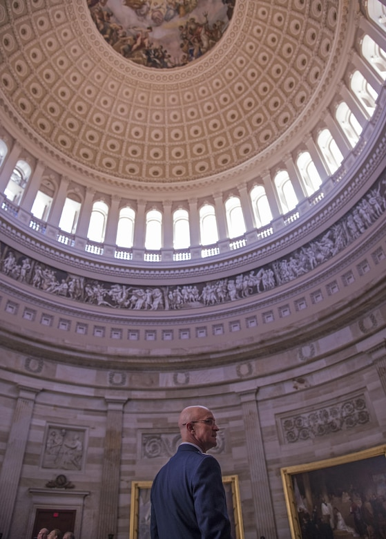 Taking in the rotunda