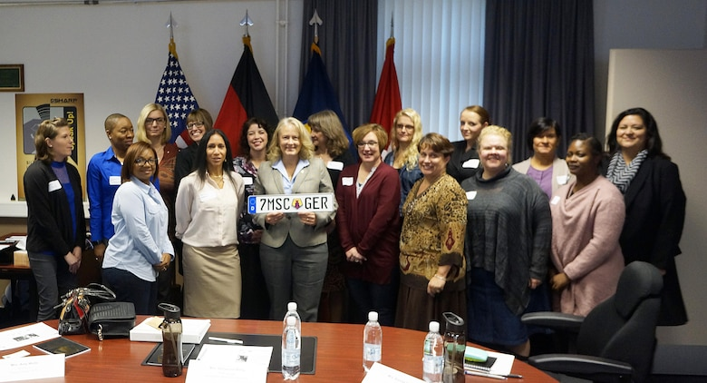 Hollyanne Milley visits Army Reserve families in Germany