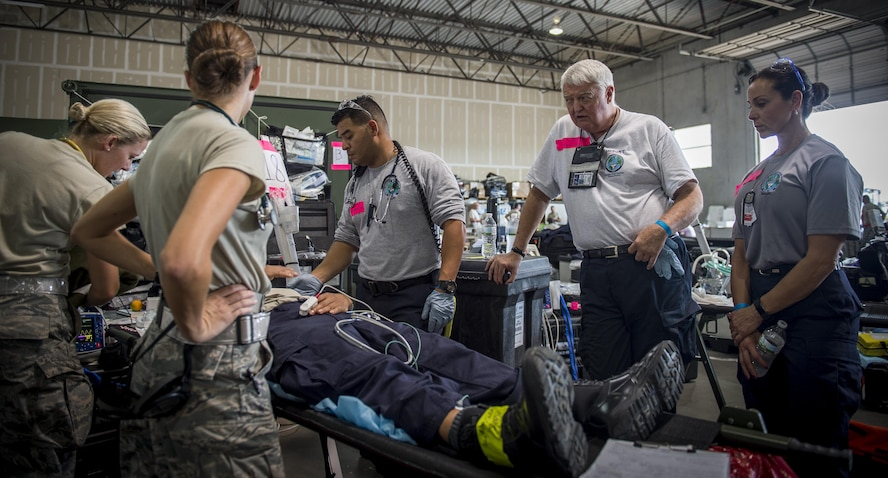 Medical teams from throughout Air Education and Training Command deployed in support of Hurricanes Harvey, Irma and Maria.   Teams were there to support Federal Emergency Management Agency relief efforts.