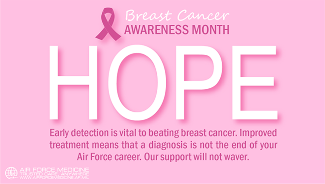 Continuing an Air Force career - hope after a breast cancer diagnosis
