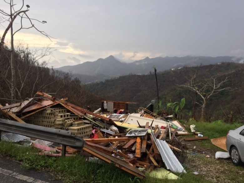 Hurricane Maria damage in Ponce, Puerto Rico