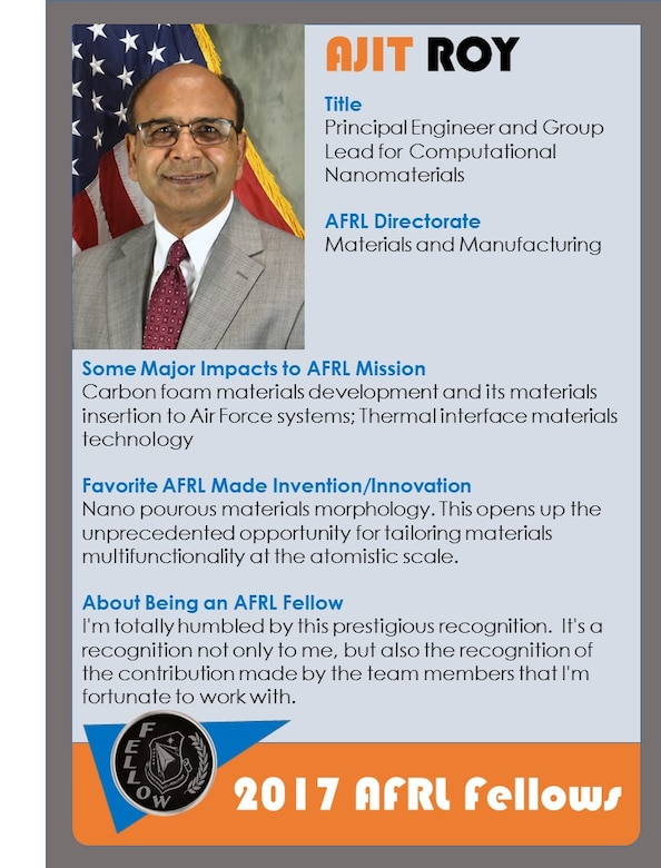Dr. Ajit K. Roy, 2017 AFRL Fellow