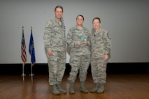Brig. Gen. Steven S. Nordhaus, commander of the Air National Guard Readiness Center and Chief Master Sgt. Lorraine F. Regan, command chief master sergeant of the ANGRC, hosted the ANGRC Commander's Call and quarterly awards ceremony at Joint Base Andrews, Md., October 25, 2017. The ceremony formally recognized the top performing personnel in leadership, job performance in their primary duties, significant self-improvement, and base and community involvement.