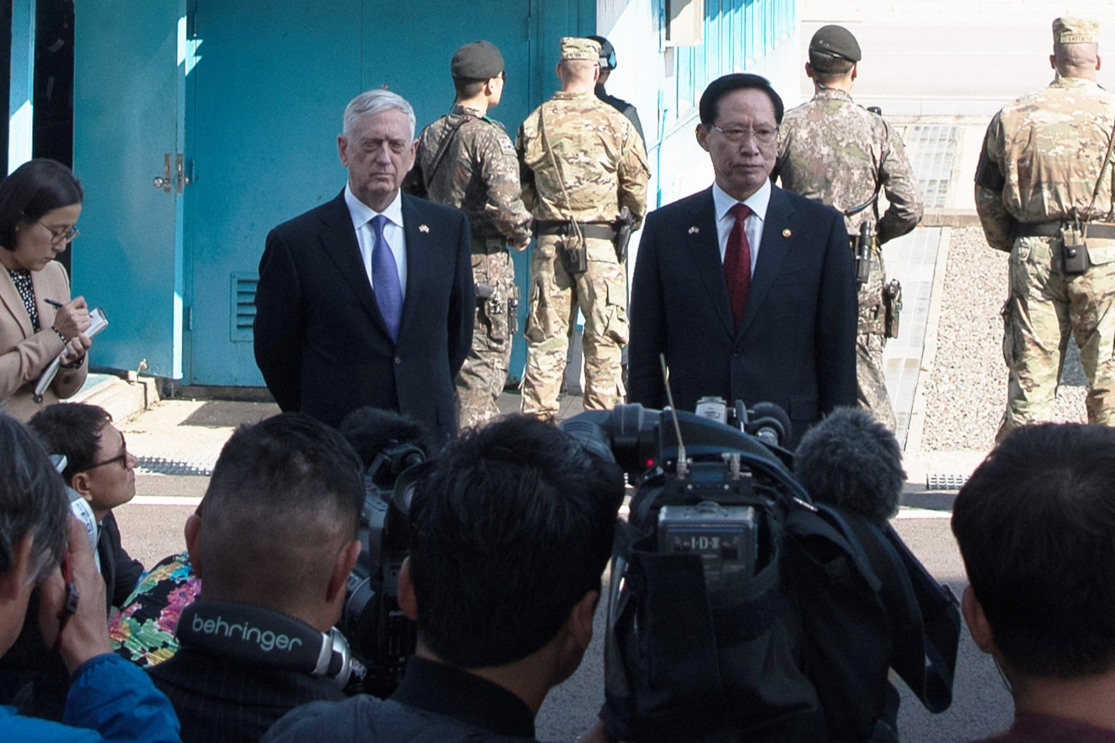 Remarks by Secretary Mattis and Min. Song at the DMZ, South Korea