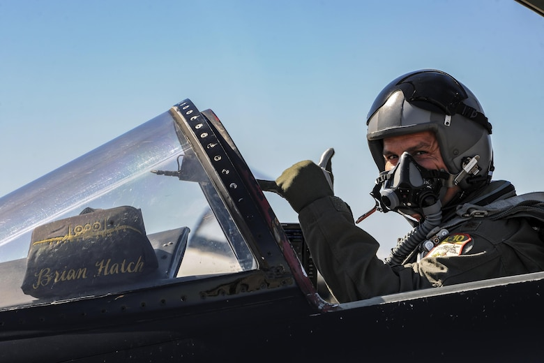 Major Brian Hatch, 301st Fighter Squadron pilot, prepares for takeoff during the Thunder Over South Georgia Air Show, Oct.28, 2017 at Moody Air Force Base, Ga. Thunder Over South Georgia is part of the Air Force's 70th Air Force Birthday celebration demonstrating air and space power over the ages. (U.S. Air Force photo by Airman Eugene Oliver)