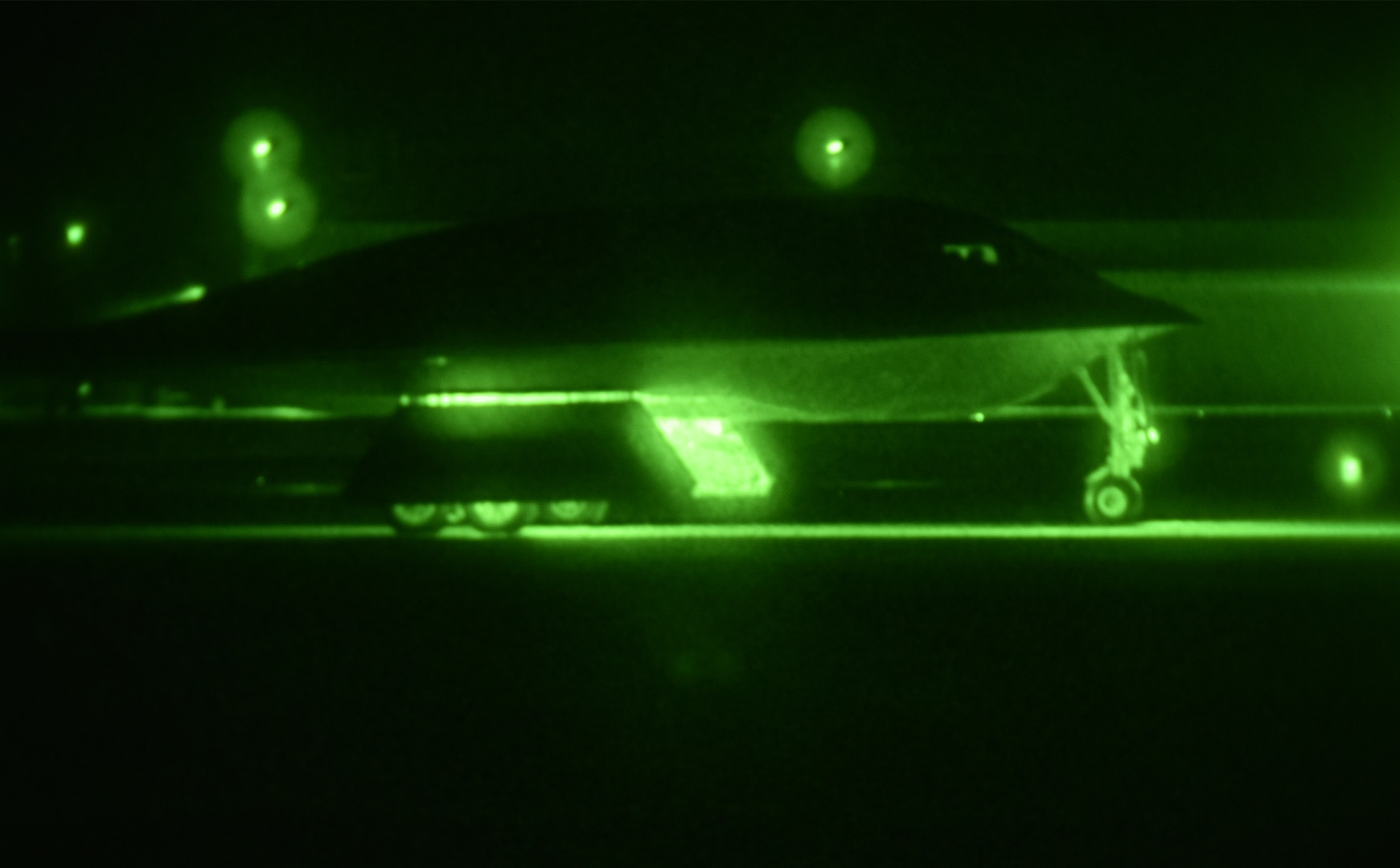 A B-2 Spirit prepares to take off from Whiteman Air Force Base, Mo., Oct. 28, 2017, to conduct a long-range mission to the U.S. Pacific Command area of responsibility. These missions validate our always-ready global strike capability and are a visible demonstration of commitment to our allies and enhancing regional security.