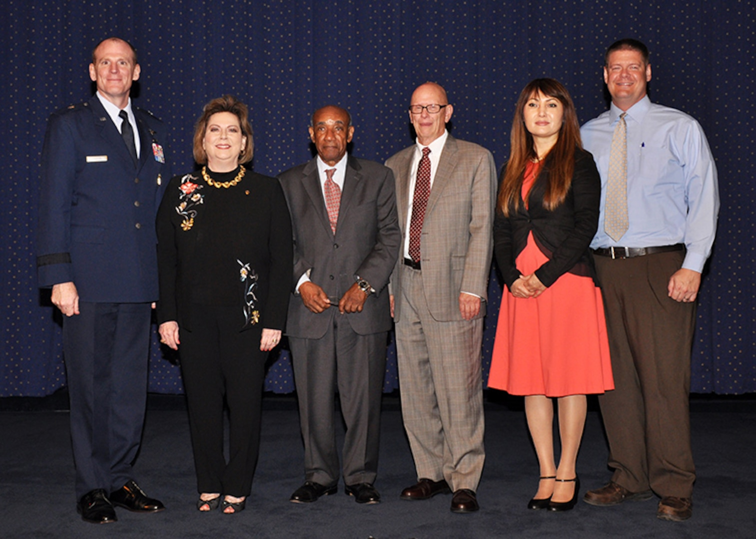 Hall of Fame inductees pose with DLA Energy Commander Brig. Gen. Martin Chapin