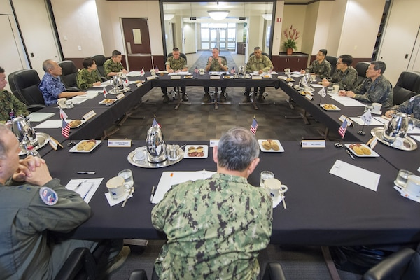 CJCS hosts trilateral meeting at USPACOM headquarters